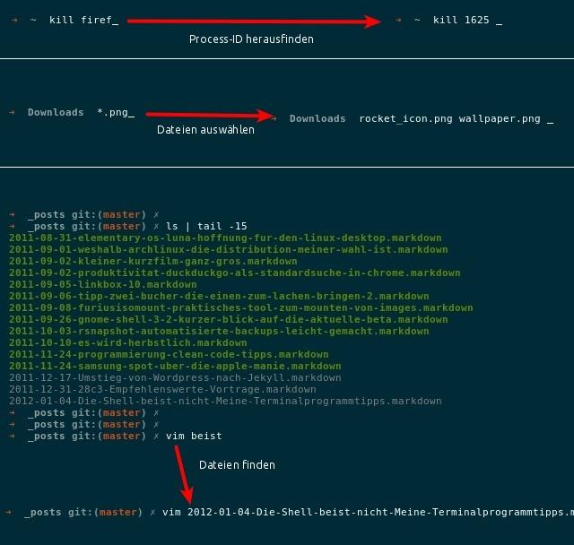 zsh screenshot tab completion