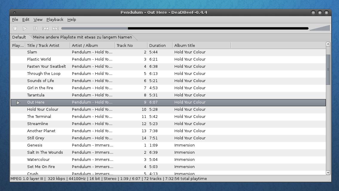 Deadbeef 0.4.4 Screenshot